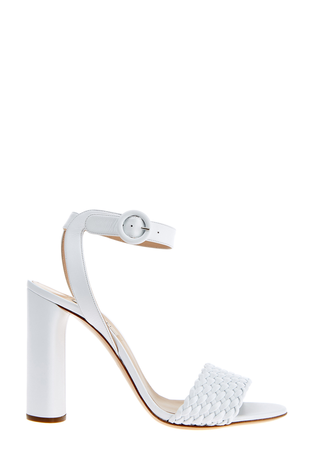 Босоножки Tresse с плетеной отделкой на каблуке овальной формы