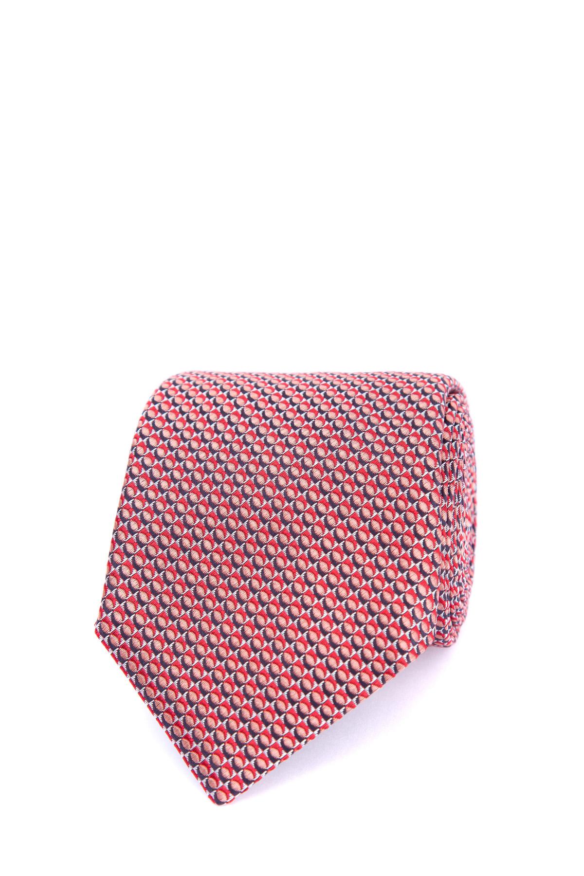 Шелковый галстук с жаккардовым принтом фото