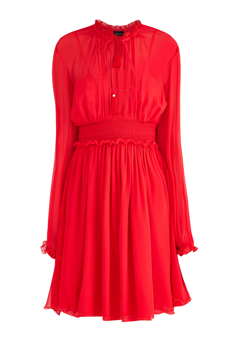 Купить Платье, ERMANNO ERMANNO SCERVINO, Италия, шелк 100%