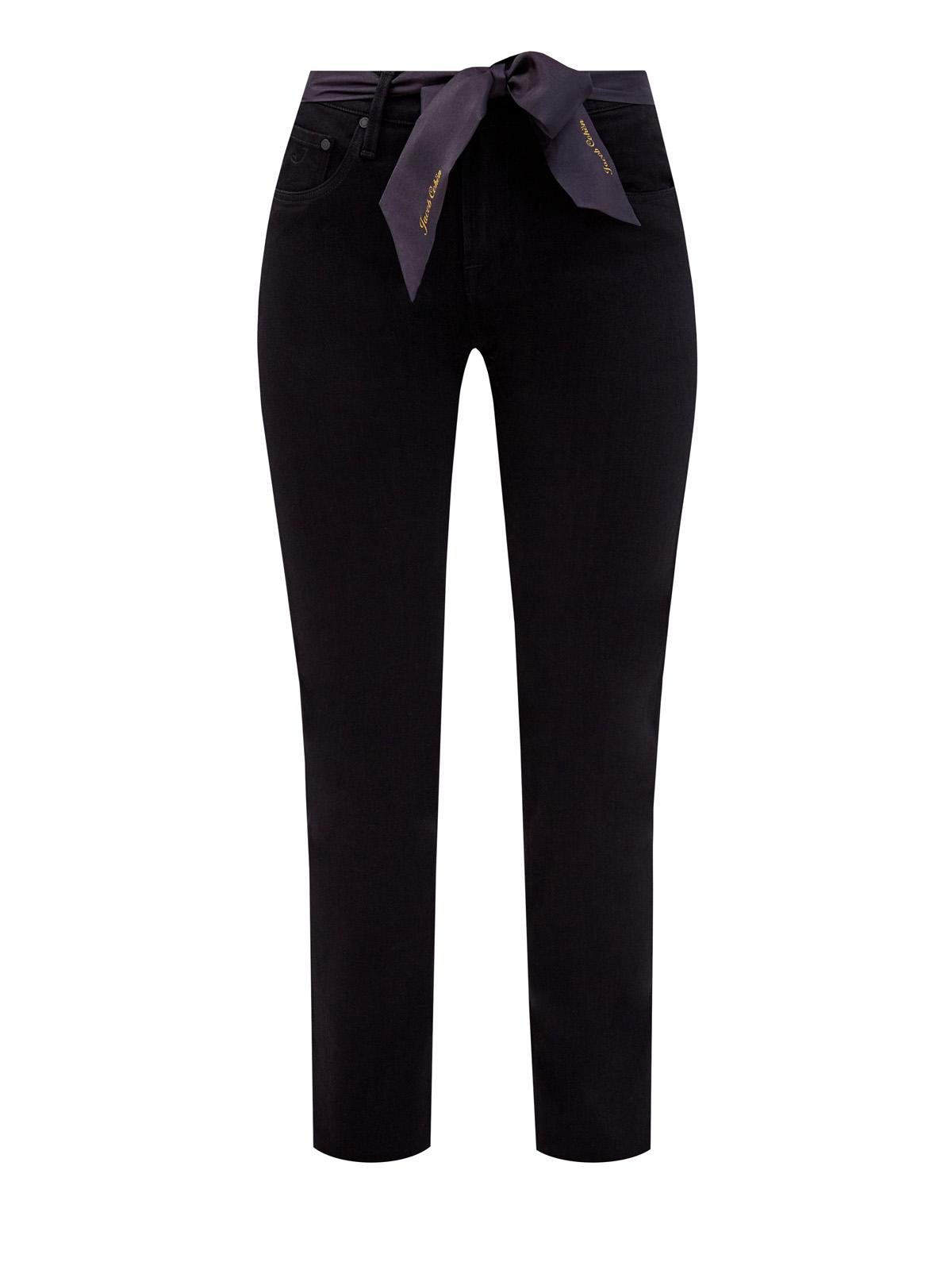 Однотонные джинсы Kimberly с платком-лентой