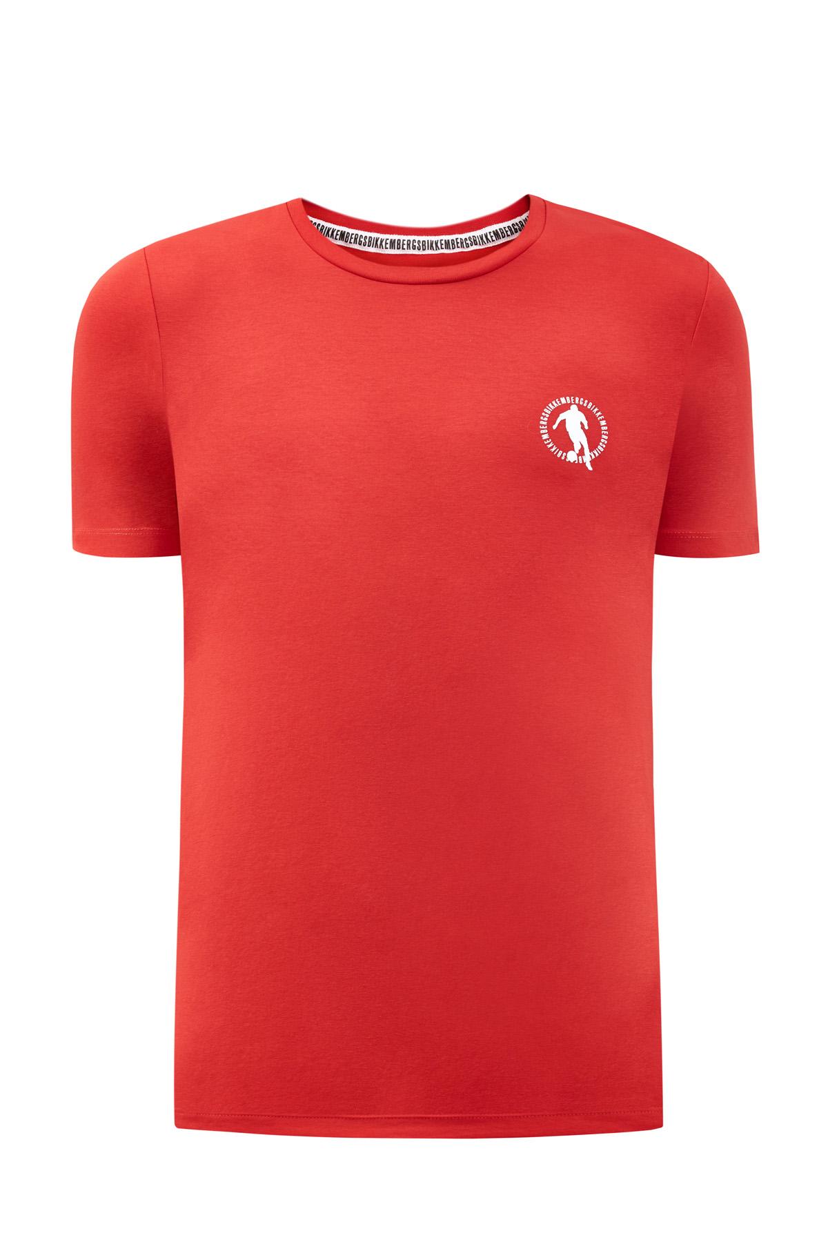 Хлопковая футболка изэластичного джерси слоготипом Soccer фото