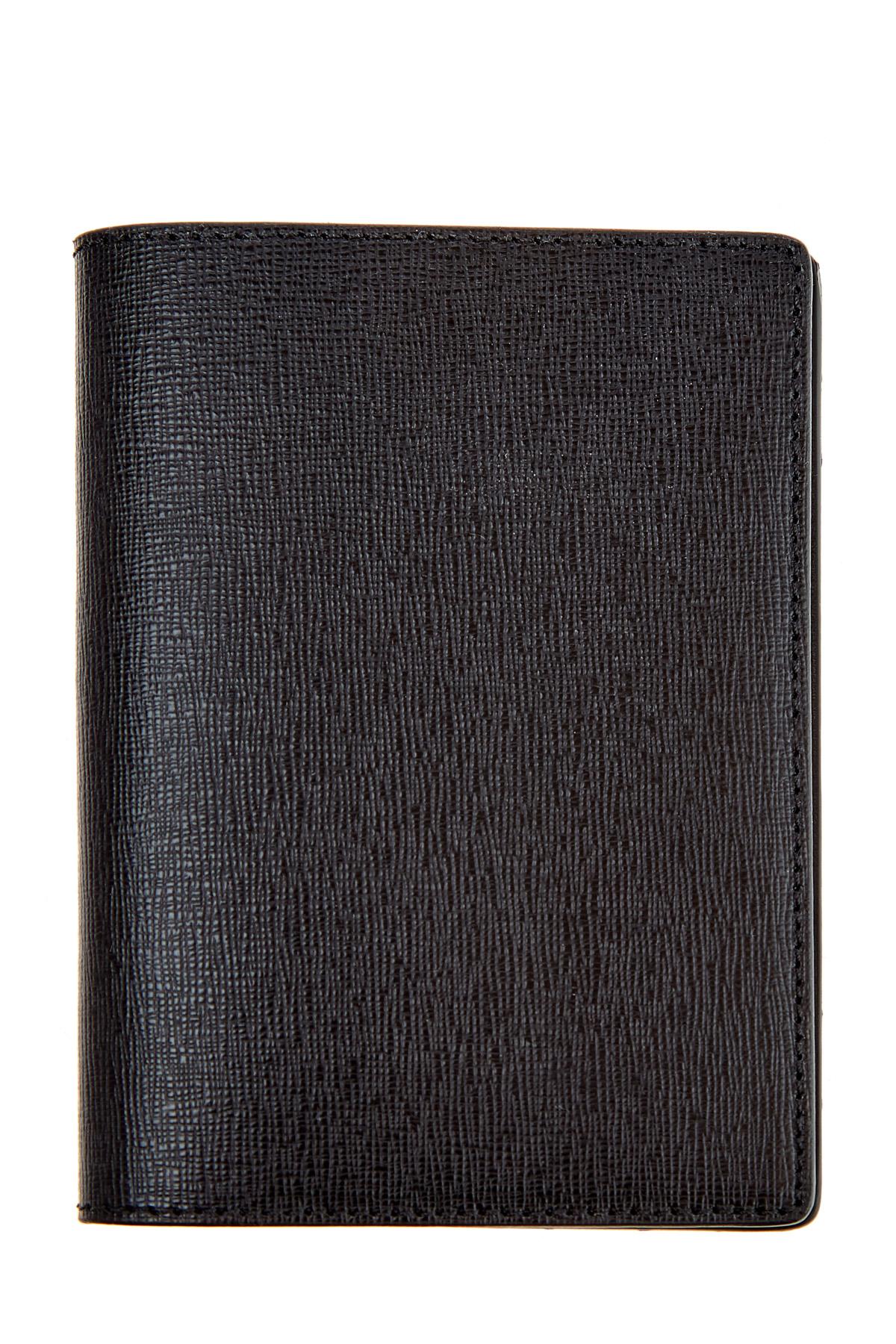 Купить Обложка для паспорта из сафьяновой кожи с отделениями для карт, CANALI, Италия, кожа 100%