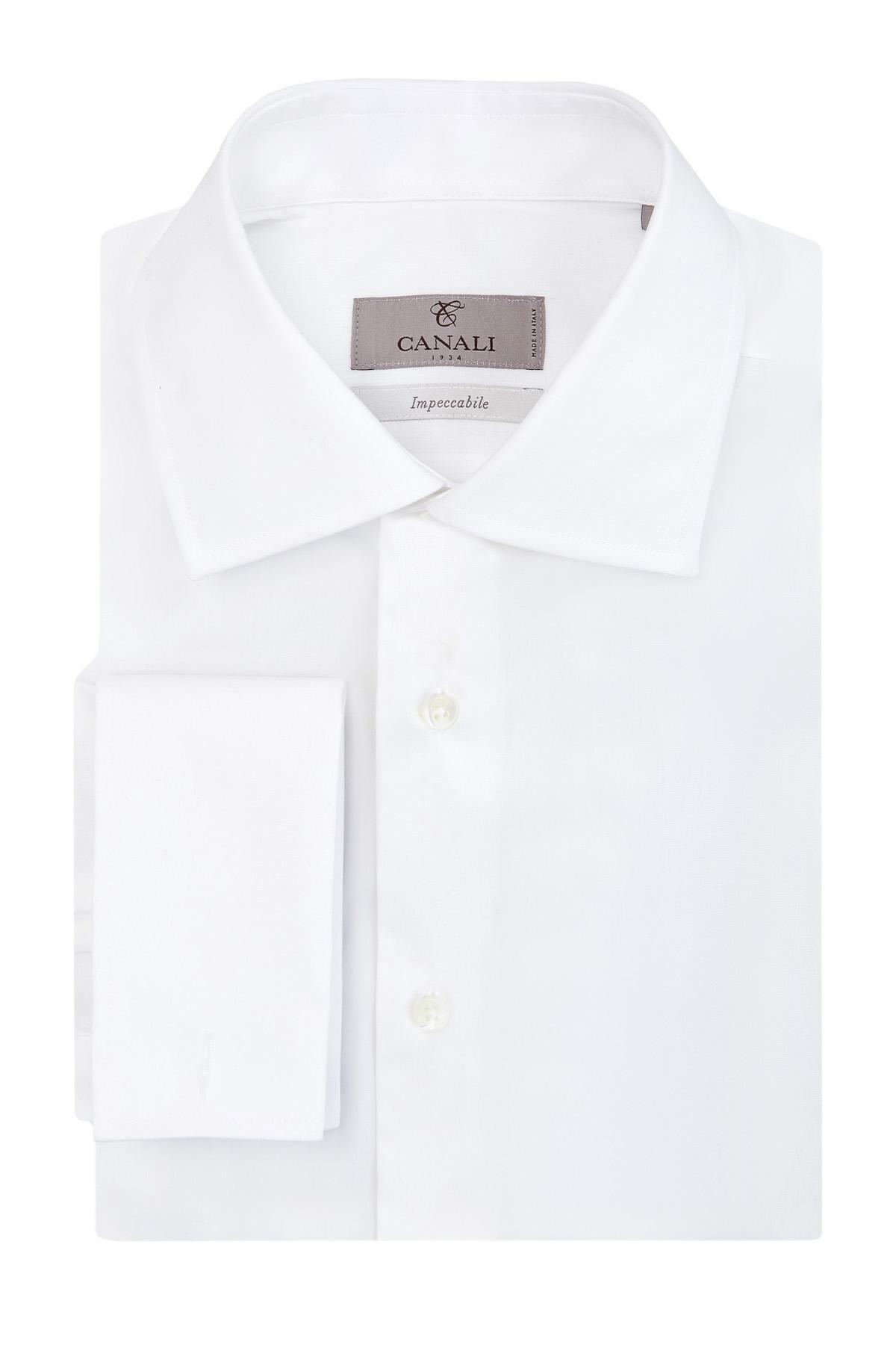 Рубашка из поплина Impeccabile с манжетами под запонки