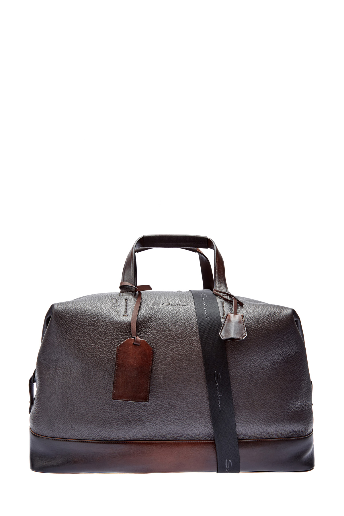 Дорожная сумка из окрашенной вручную кожи фото
