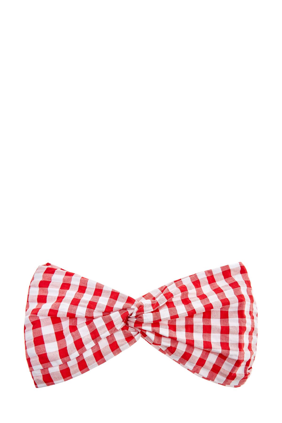 Купить со скидкой Яркая повязка из жатого хлопка с перекрученной отделкой