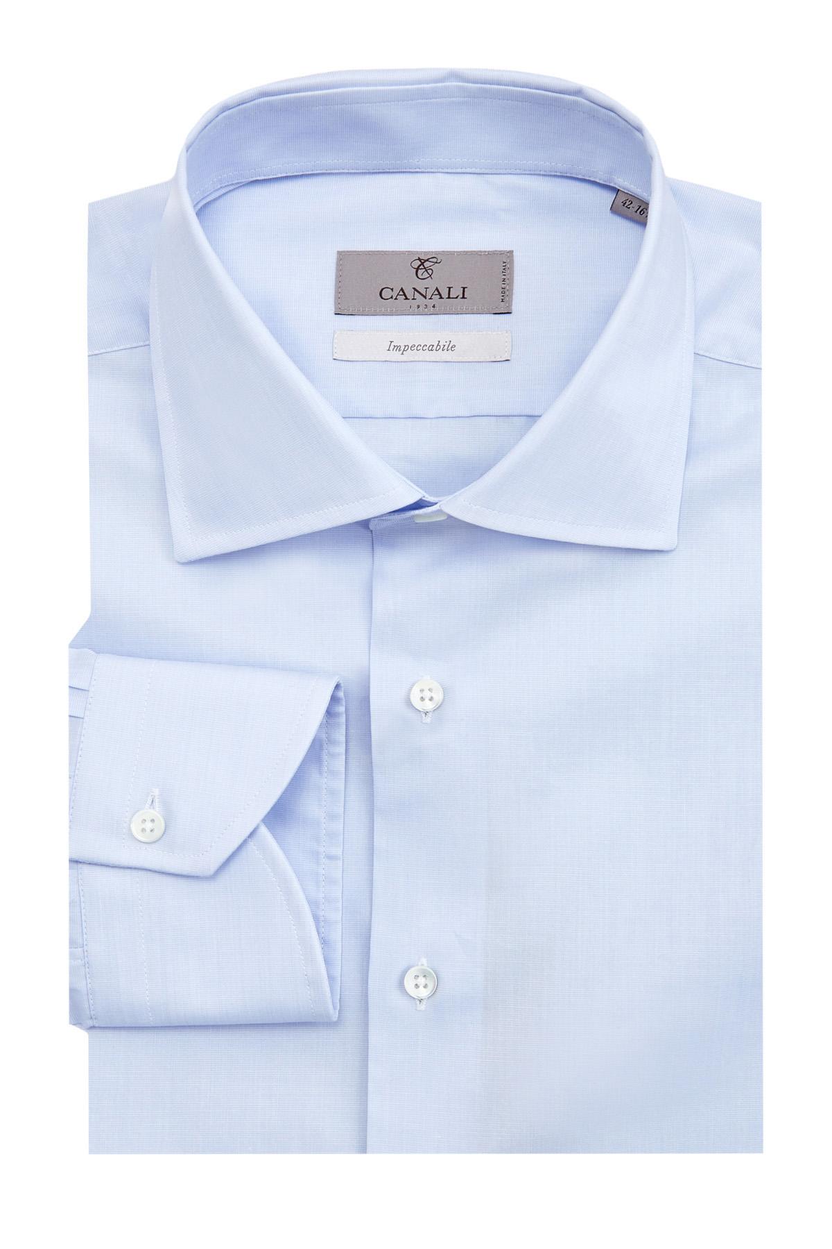 Однотонная рубашка Modern Fit из хлопка Impeccabile