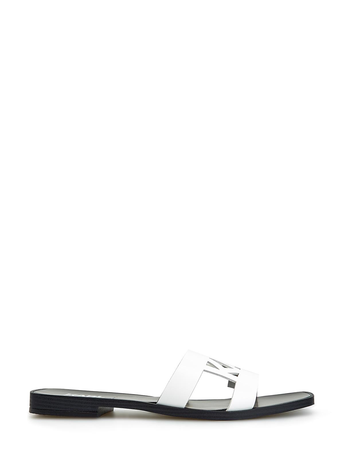 Кожаные сандалии с логотипом в лазерной технике