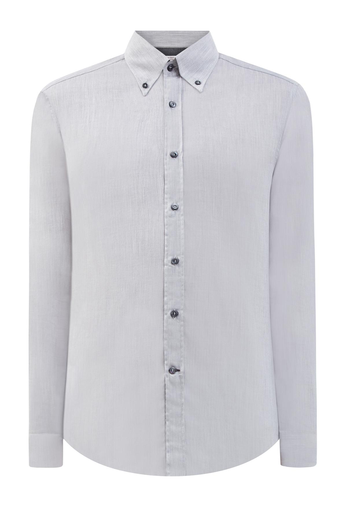 Рубашка из дышащего хлопка с отложным воротником button-down