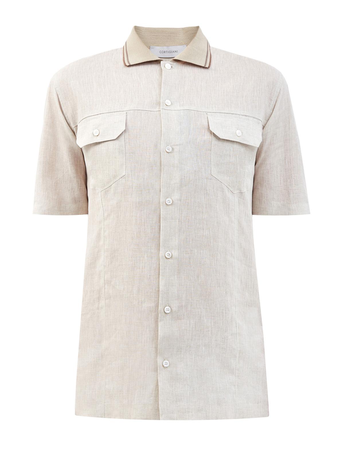 Рубашка в стиле sprezzatura из дышащего льна