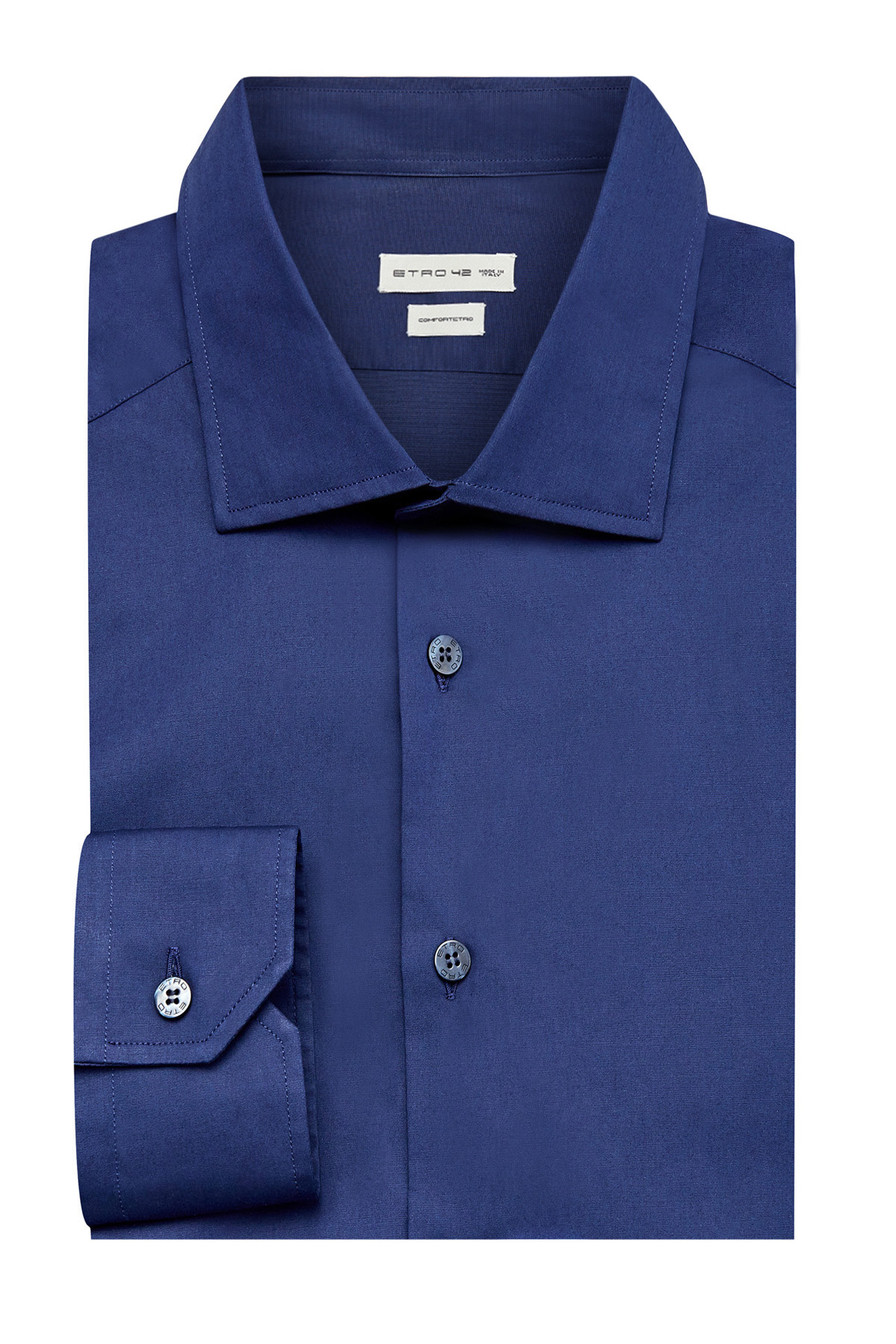 Однотонная приталенная рубашка из хлопка