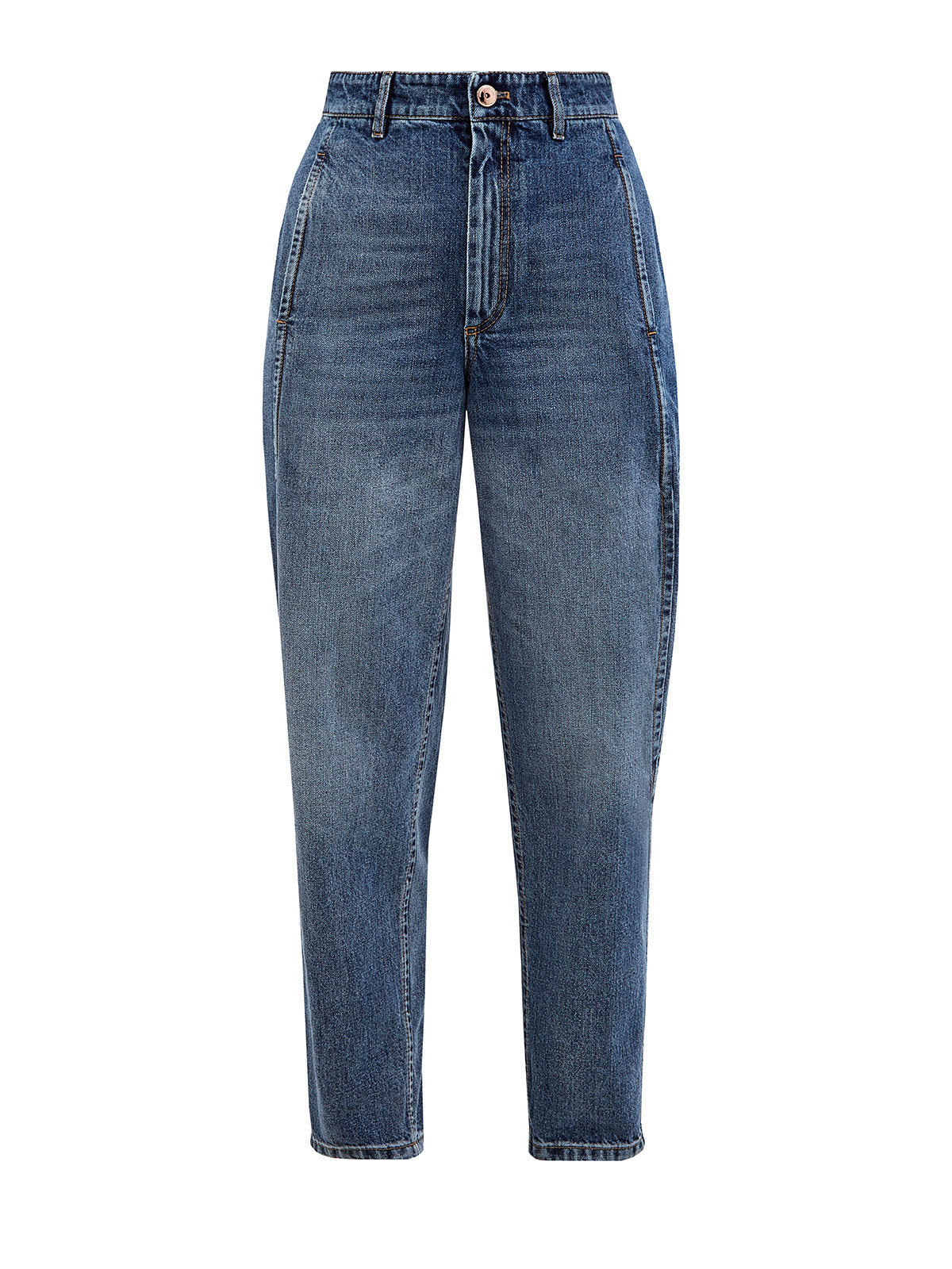Высокие джинсы mom's из выбеленного денима Authentic