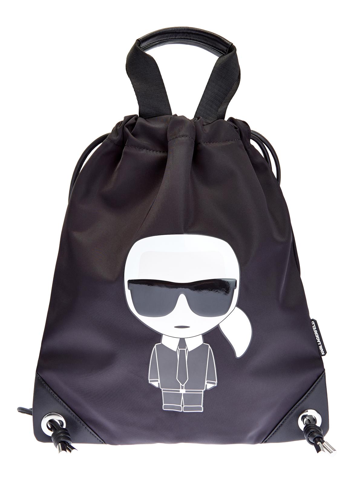 Сумка-рюкзак K/Ikonik из нейлона с макро-аппликацией
