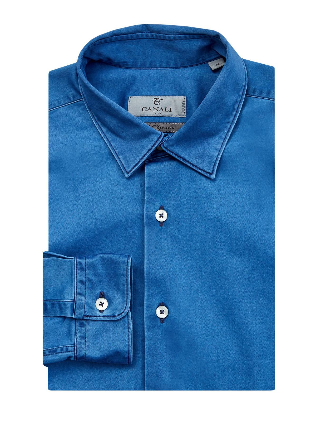 Рубашка в стиле casual из эластичного хлопка