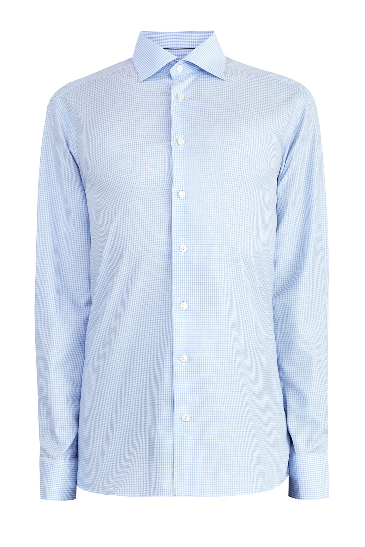 Рубашка классического силуэта Contemporary с микро-принтом в клетку