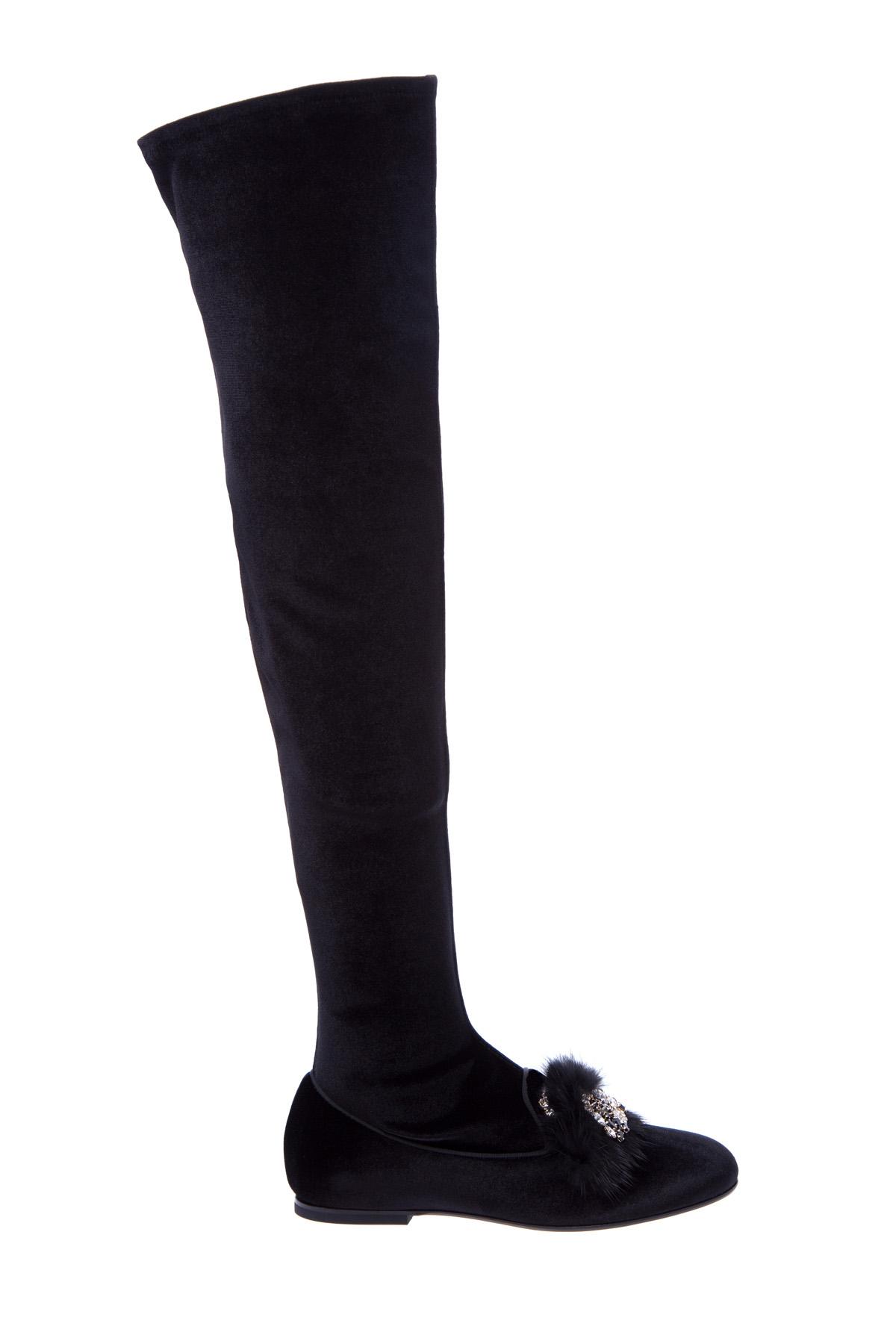 женские ботфорты на каблуке ermanno scervino