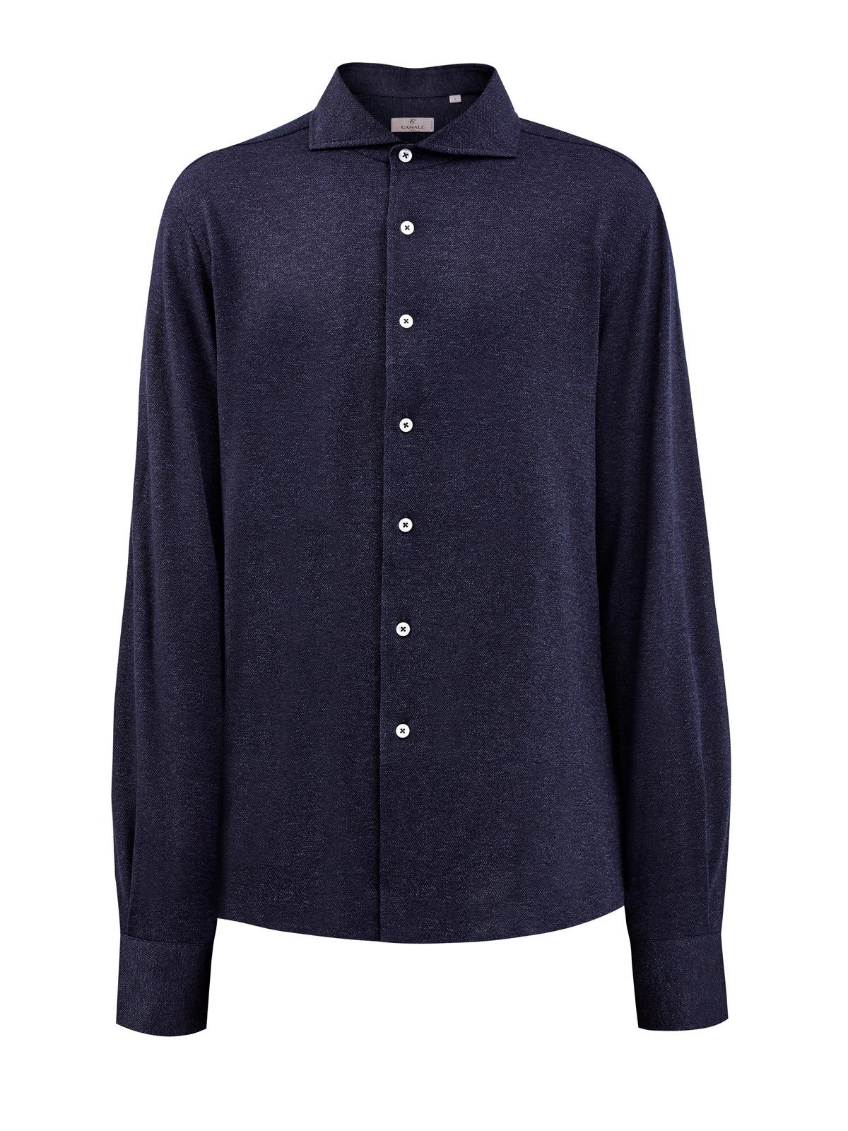 Рубашка Slim Fit из плотной хлопковой саржи