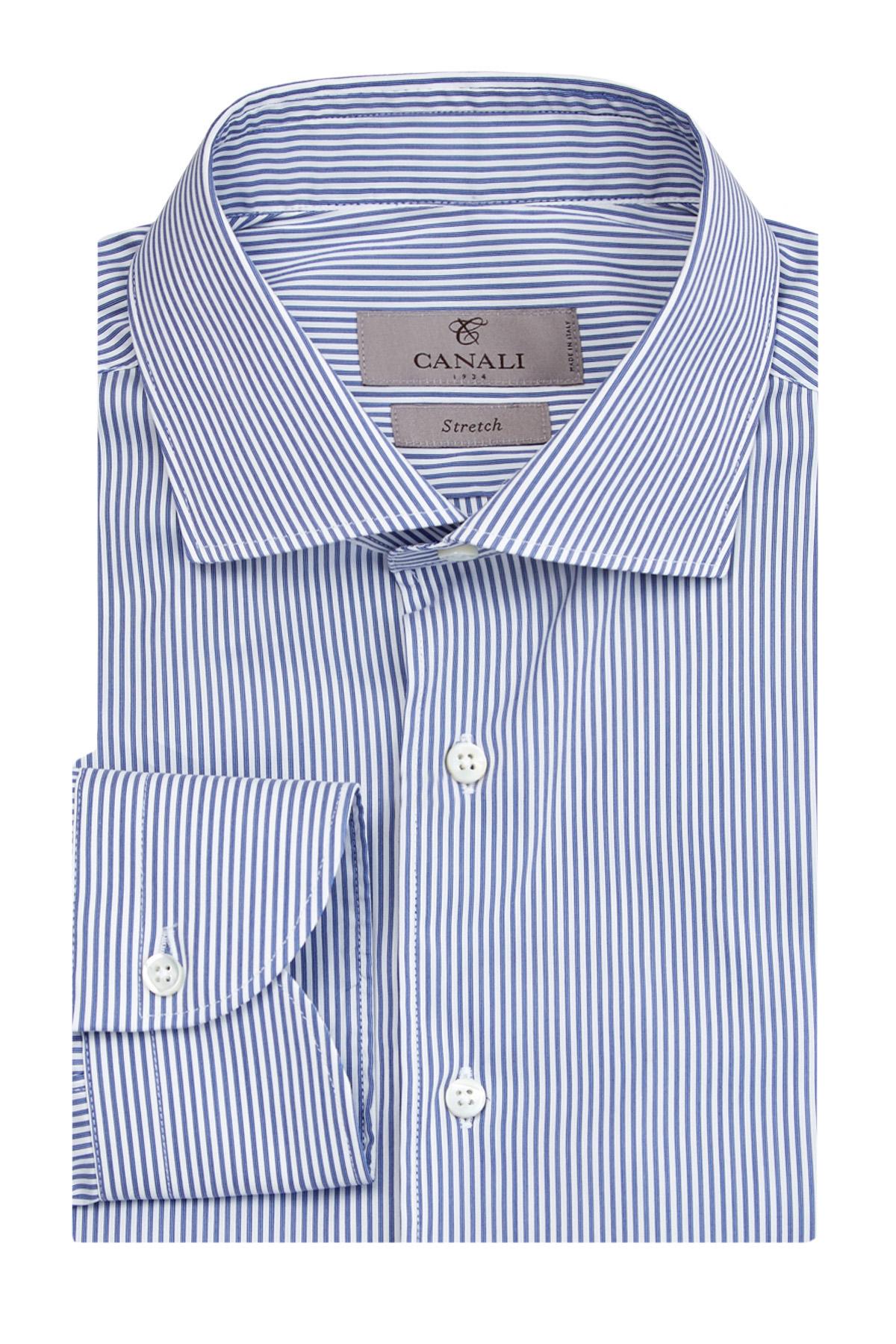 Приталенная рубашка Slim Fit из поплина Impeccabile