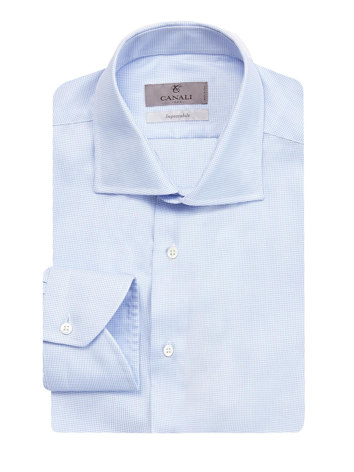 Рубашка из гладкого поплина с принтом в клетку