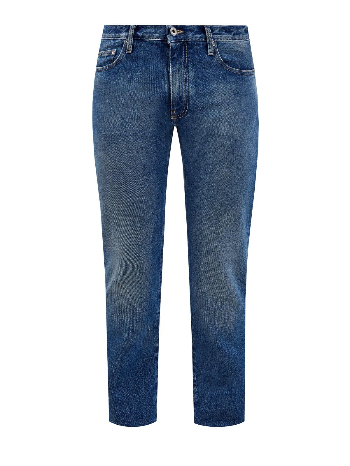 Синие джинсы из денима с патчем Off-White™ meteor