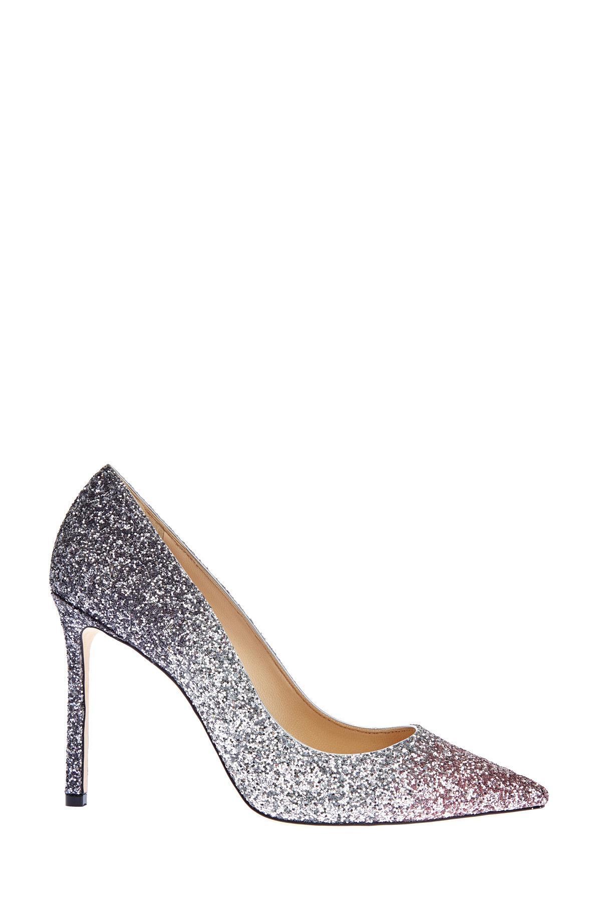 Туфли Romy с мерцающим градиентным покрытием из блесток