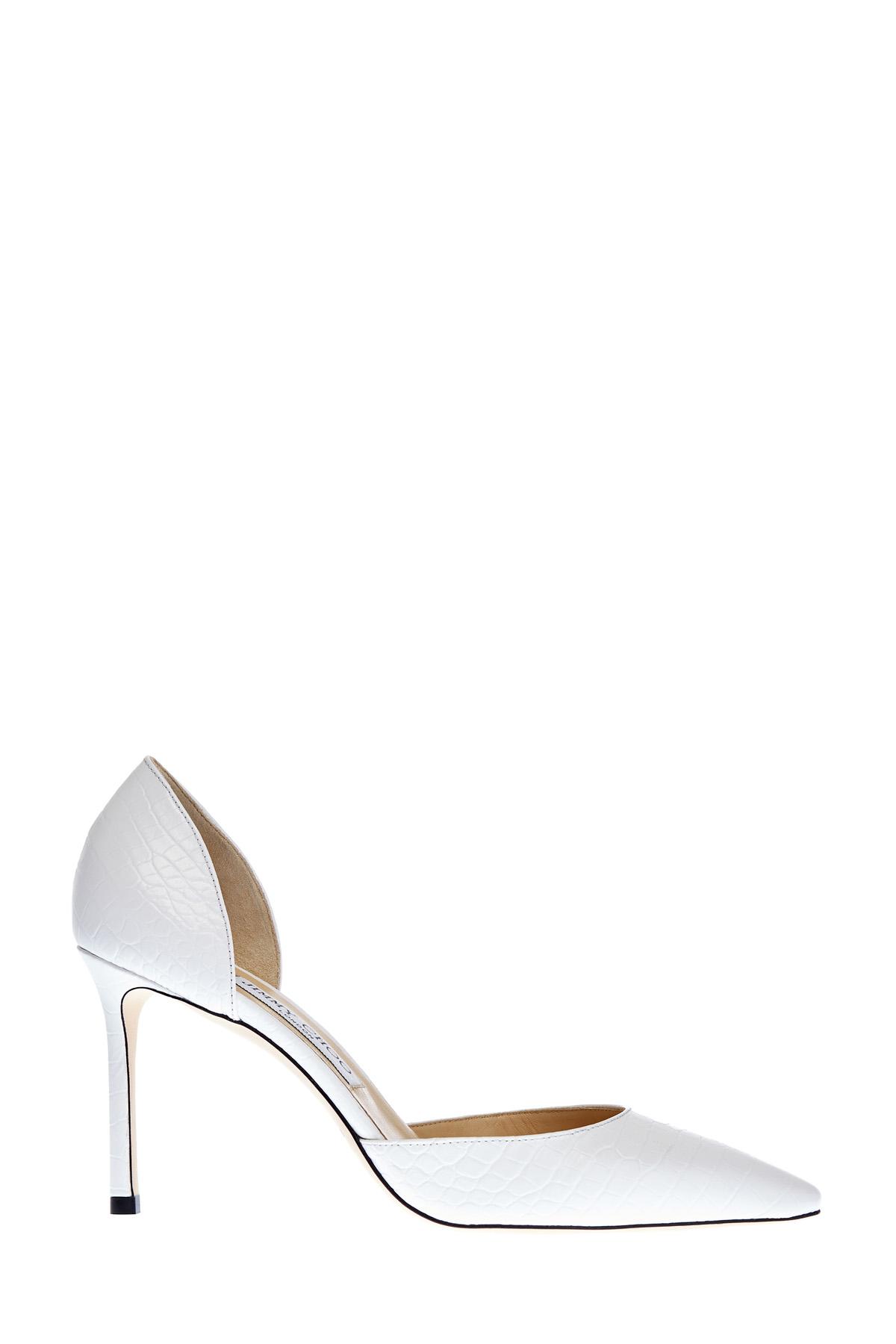 Открытые туфли-лодочки Esther из кожи с тисненым принтом