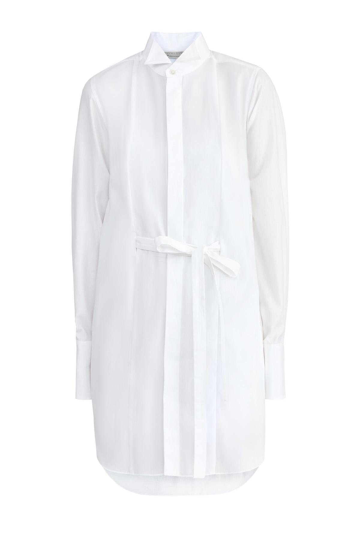 Купить Платье-рубашка с комбинацией и отделкой из кружева кроше, STELLA McCARTNEY, Великобритания, хлопок 100%