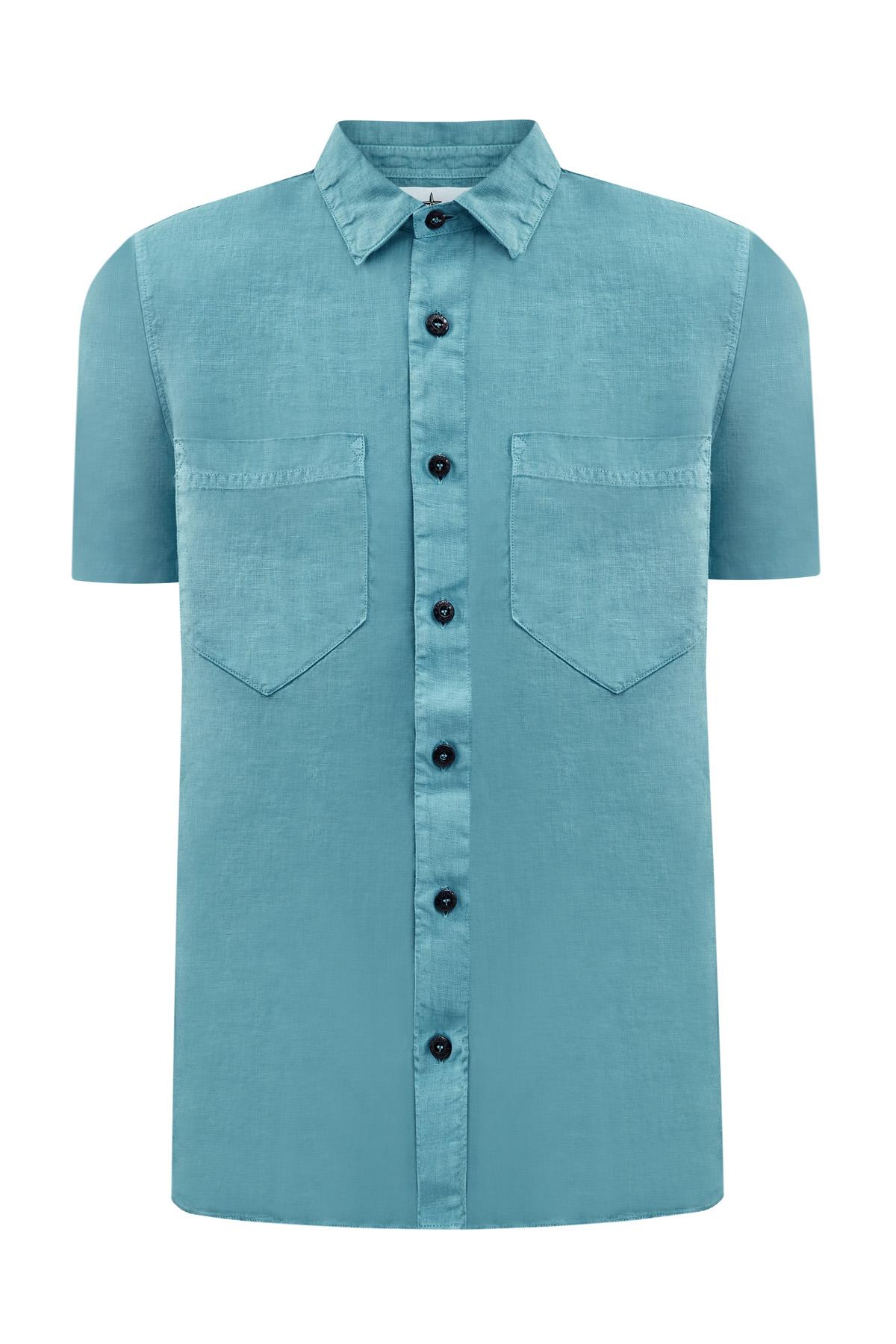 Легкая рубашка с короткими рукавами из льняной ткани Fissato