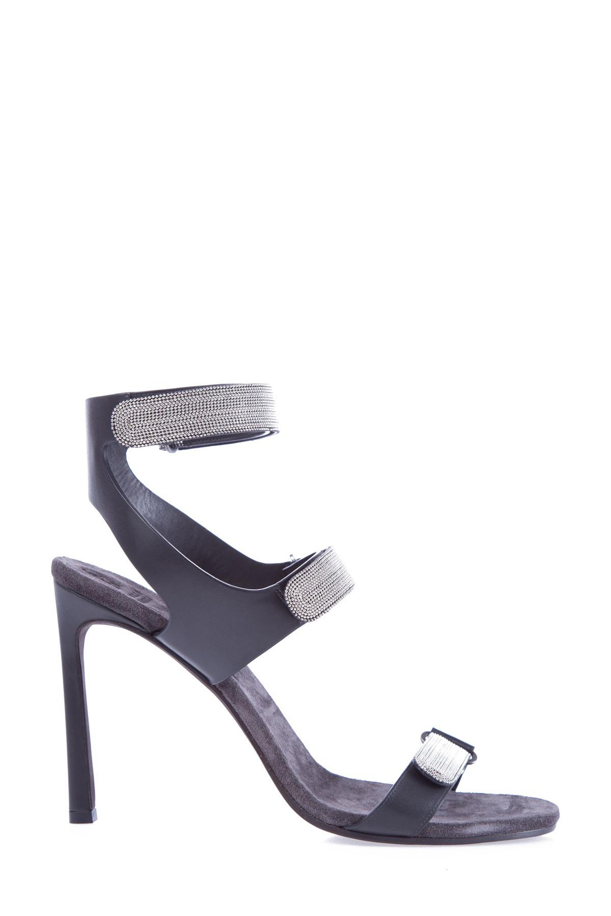 женские босоножки на каблуке brunello cucinelli