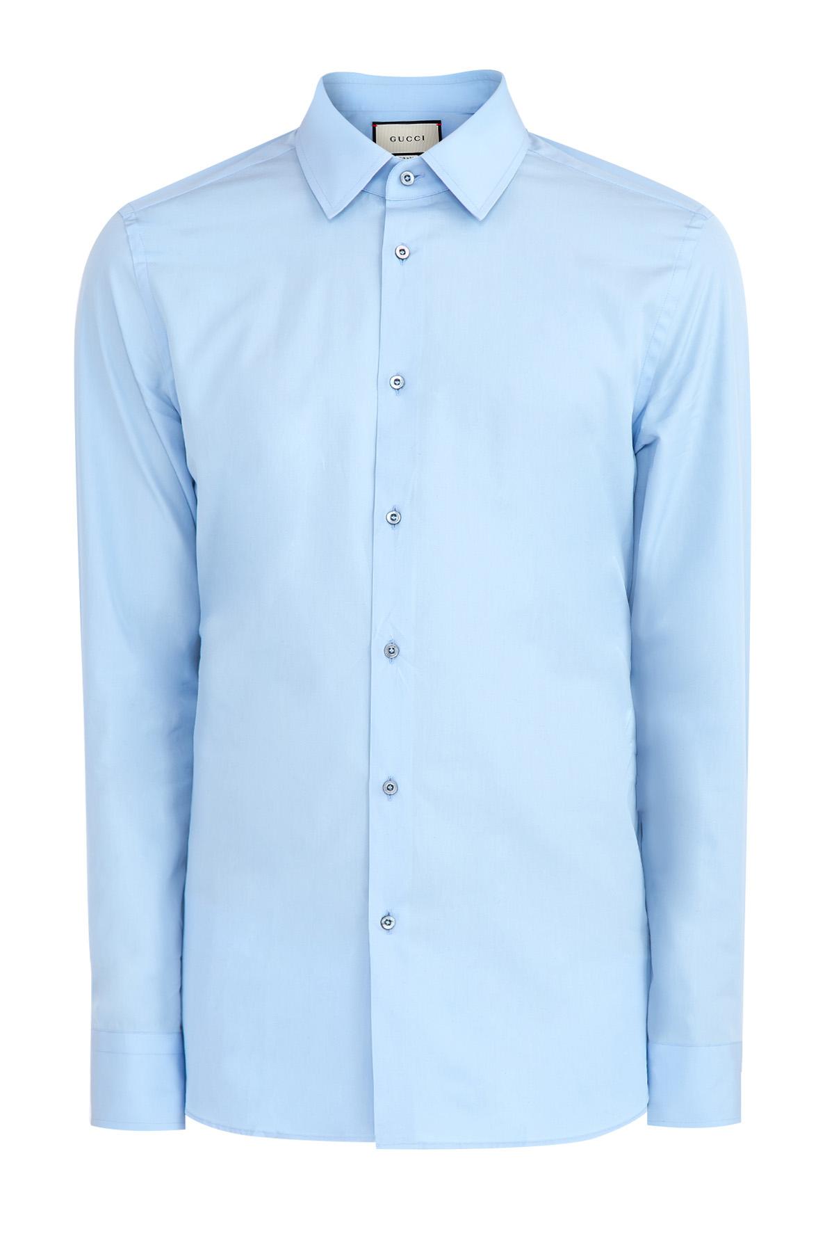 Базовая рубашка из хлопкового поплина фото