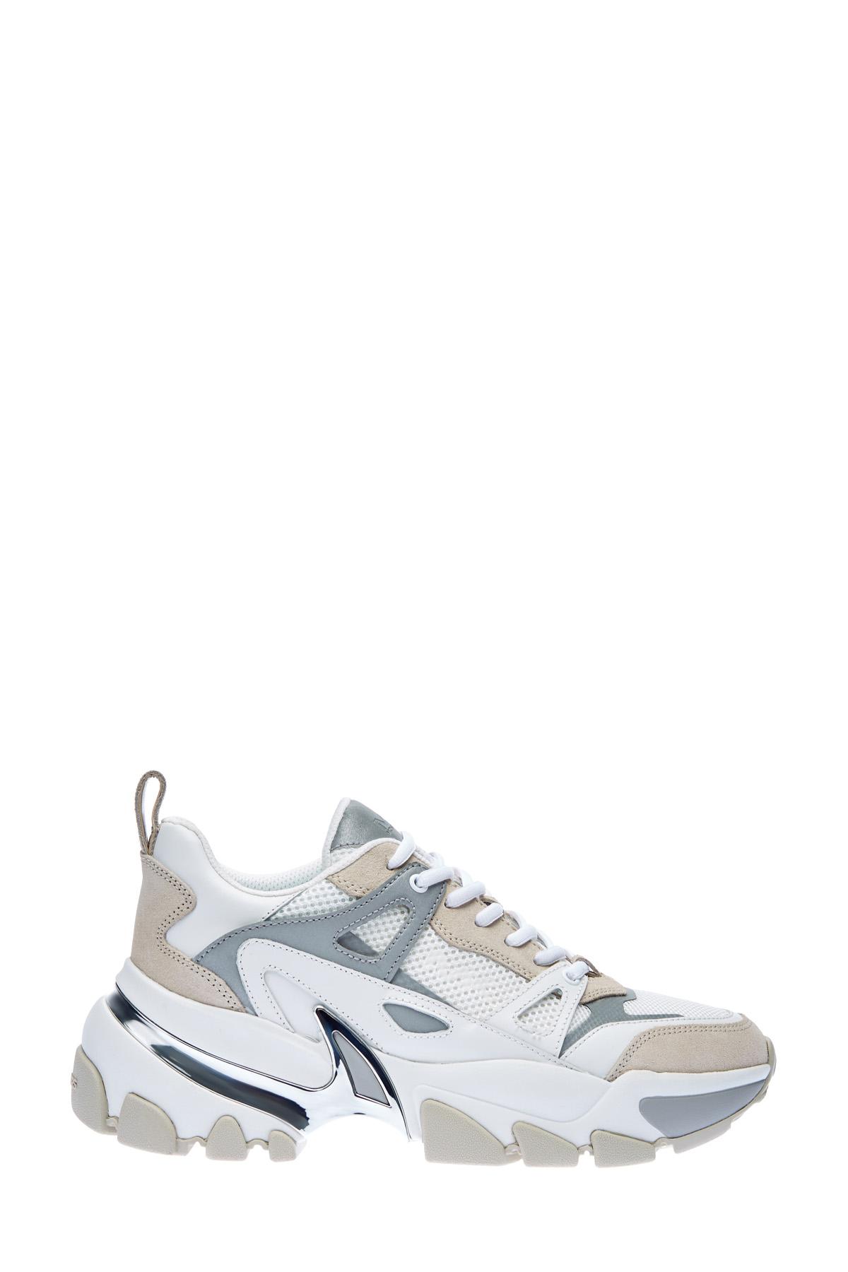 Кроссовки из кожи Vachetta со светоотражающей отделкой фото