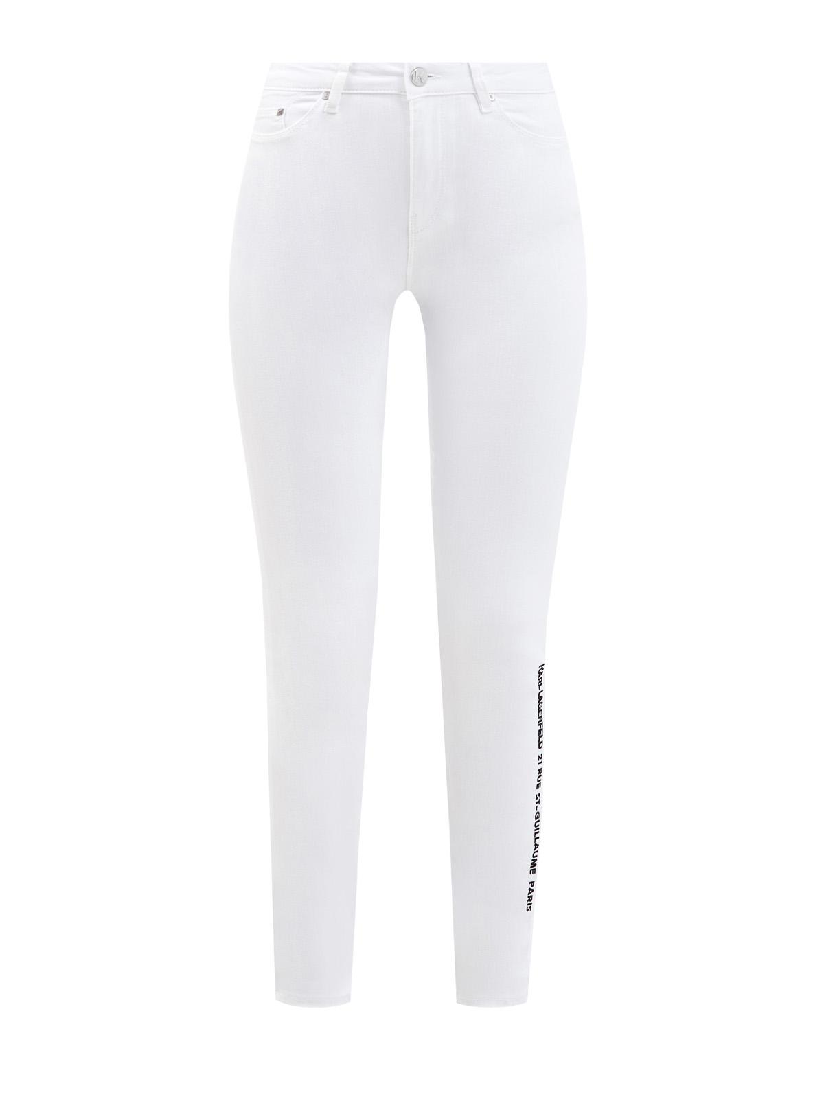 Белые джинсы-skinny с принтом Rue St-Guillaume