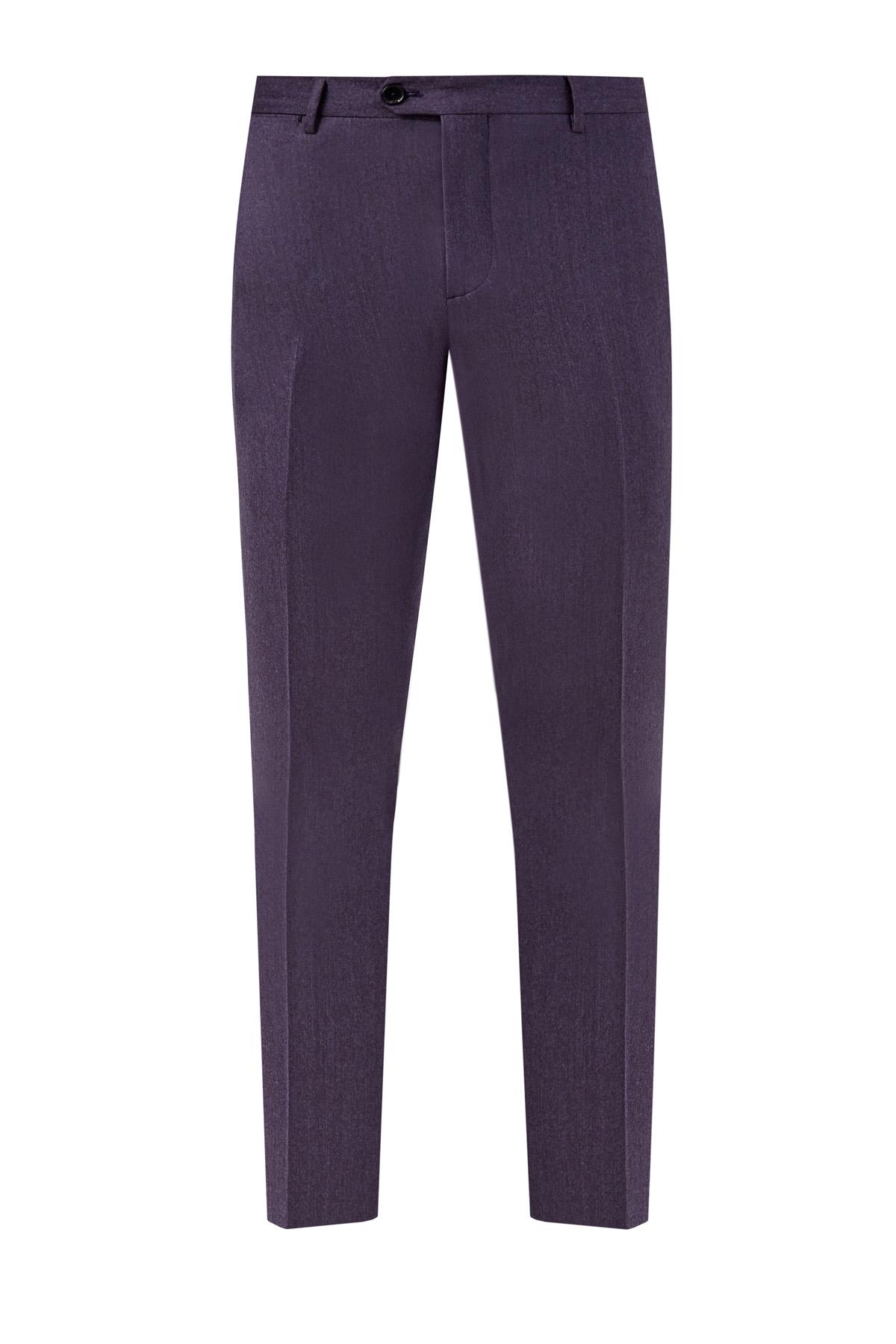 Классические брюки из шерстяной фланели фото