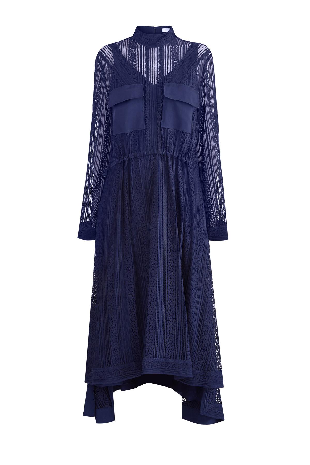 женское платье миди chloe