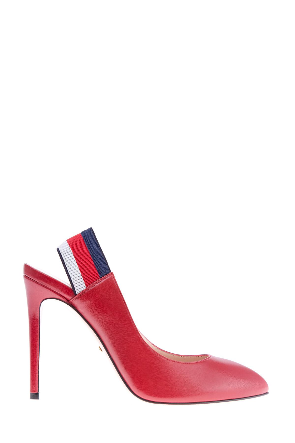 Купить Яркие туфли с эластичной вставкой на заднике в гамме Sylvie Web, GUCCI, Италия, кожа 100%