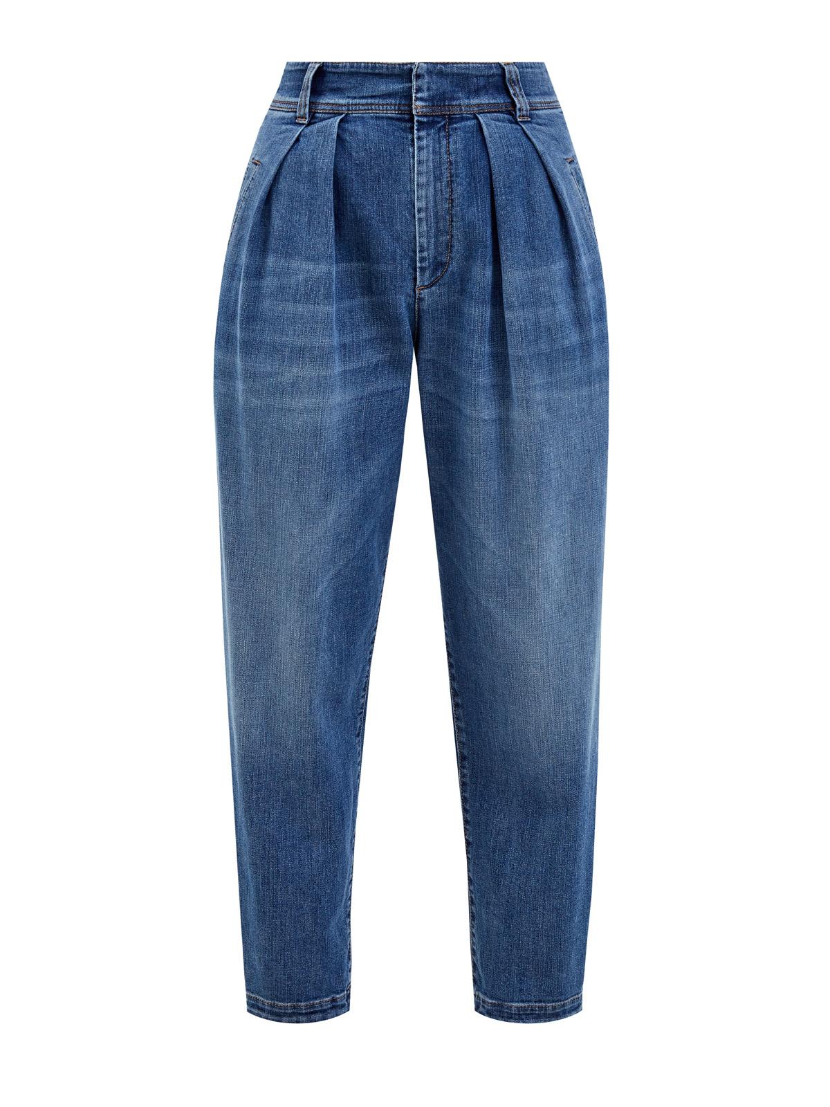 Укороченные джинсы Slouchy с выбеленным эффектом ручной работы