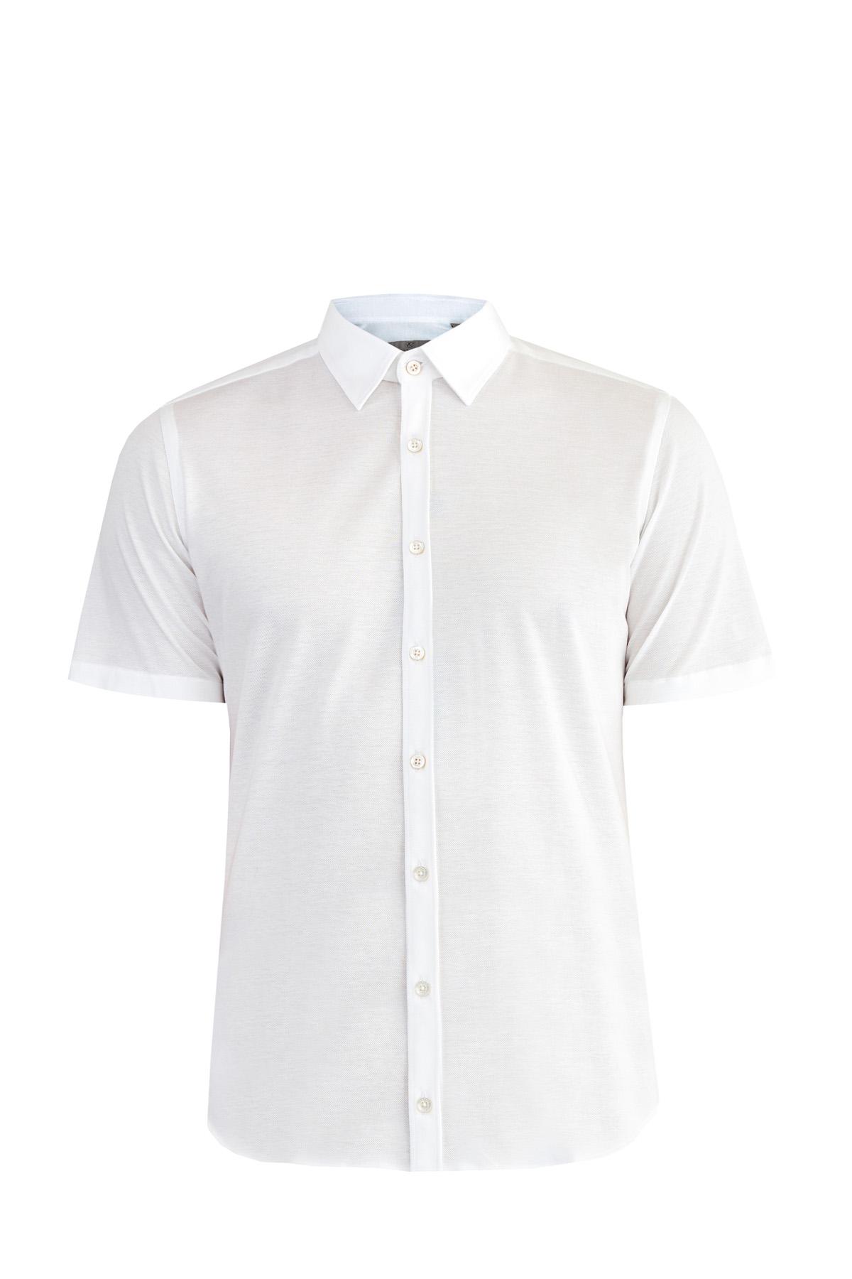 Рубашка из хлопкового джерси белоснежного цвета