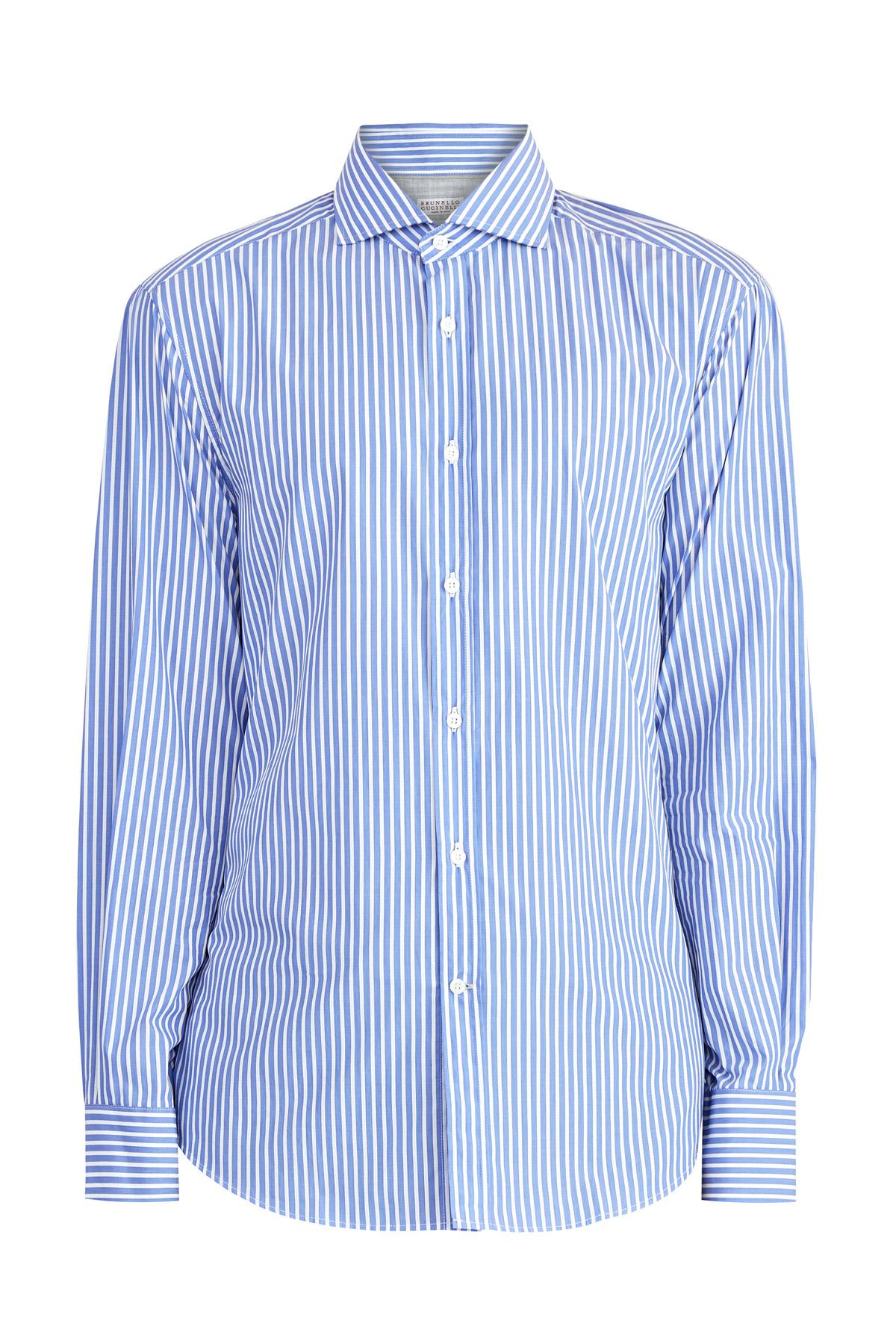 Рубашка изхлопкового поплина сфранцузским воротником