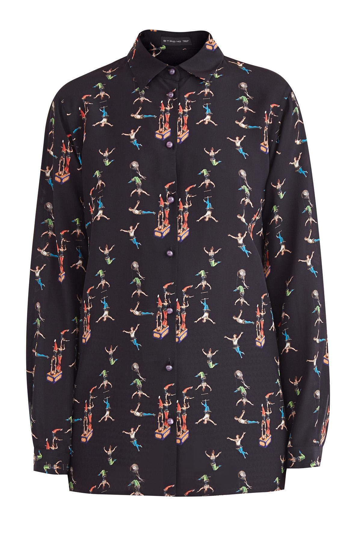 женская рубашка с длинным рукавом etro