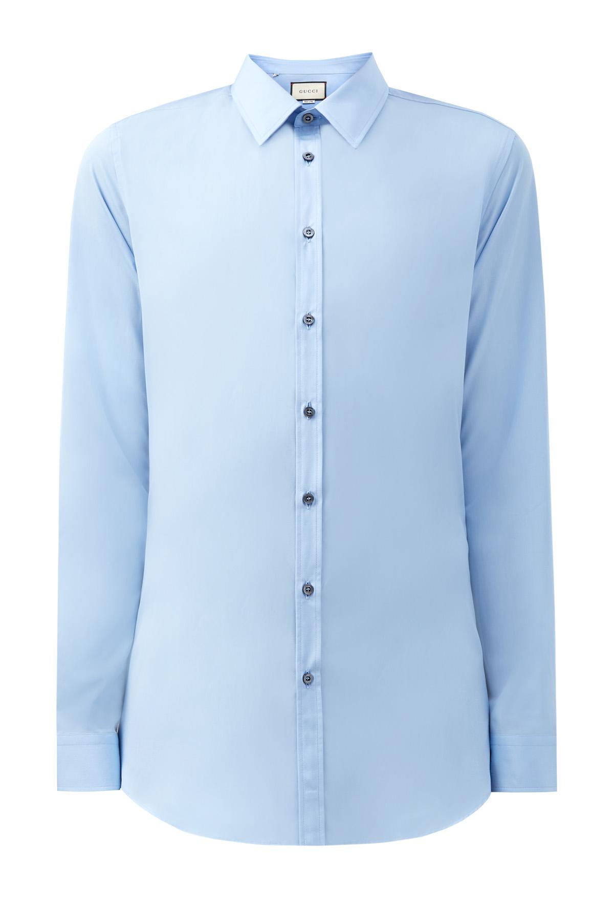 Рубашка из хлопкового поплина с контрастными пуговицами