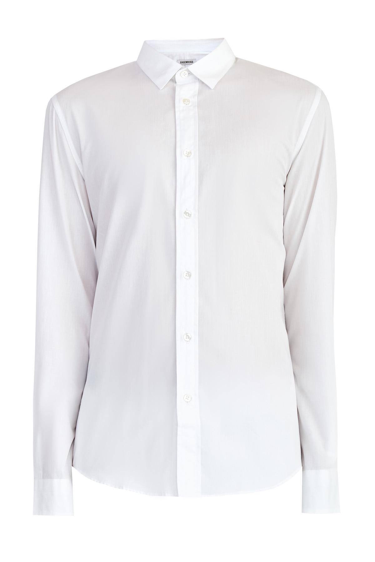 Свободная белая рубашка из поплина с аппликацией на спинке