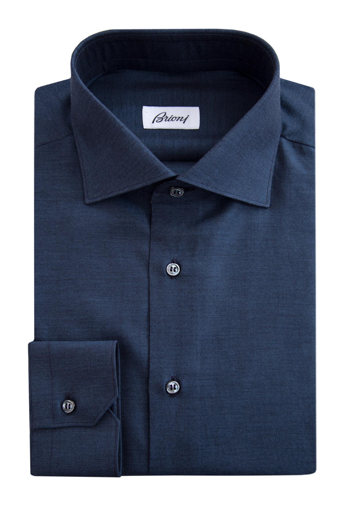 Купить Рубашка, BRIONI, Италия, хлопок 85%, кашемир 15%