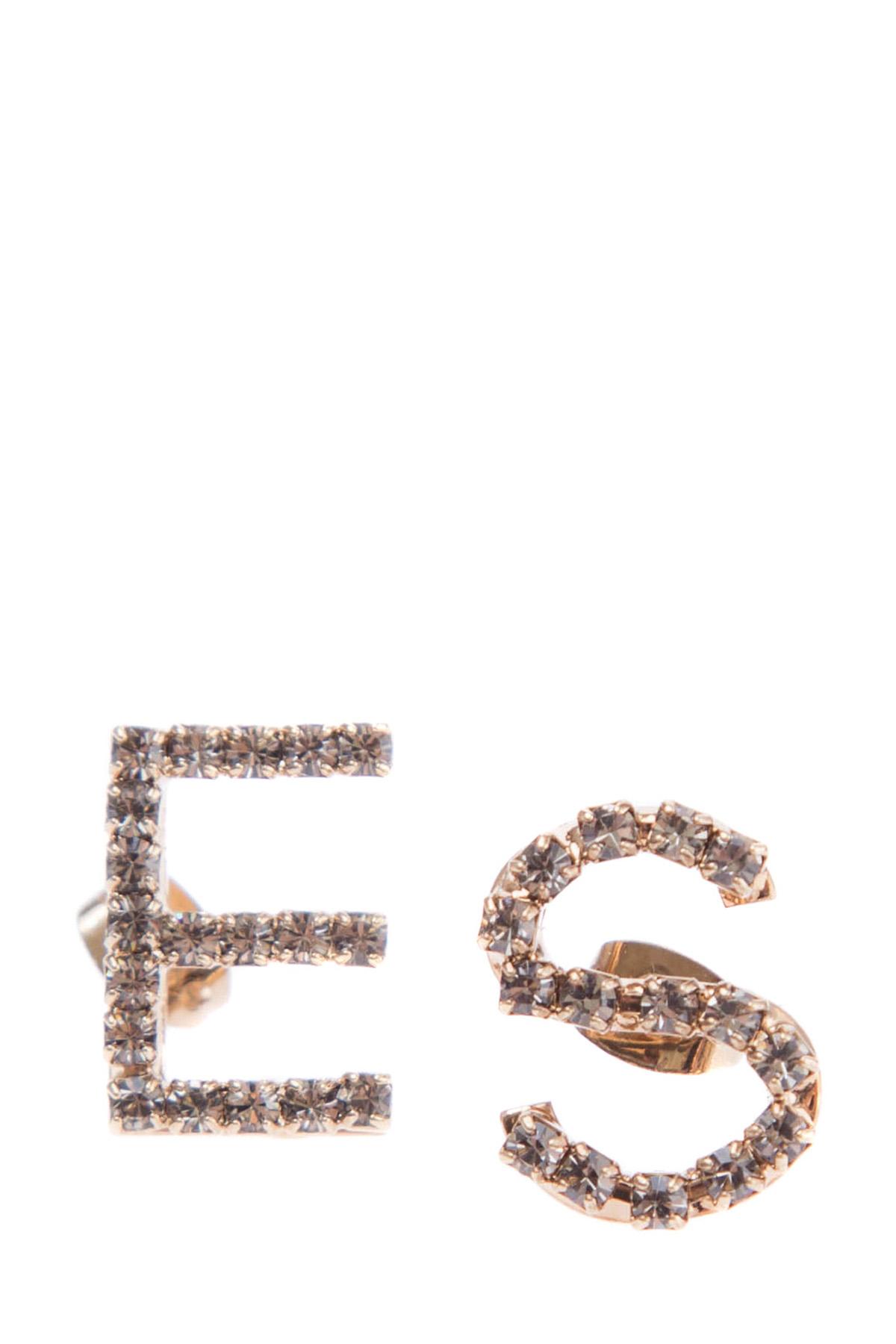 Купить Серьги, ERMANNO SCERVINO, Италия, стекло 60%, латунь 40%