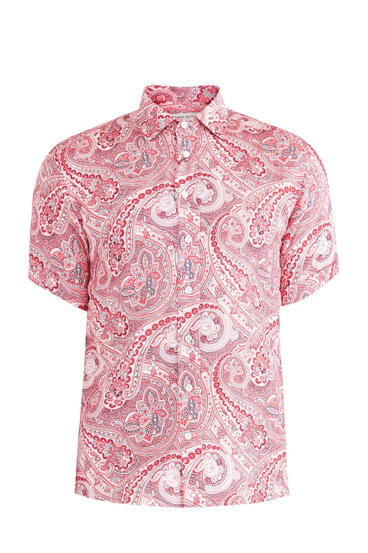 мужская рубашка с коротким рукавом etro