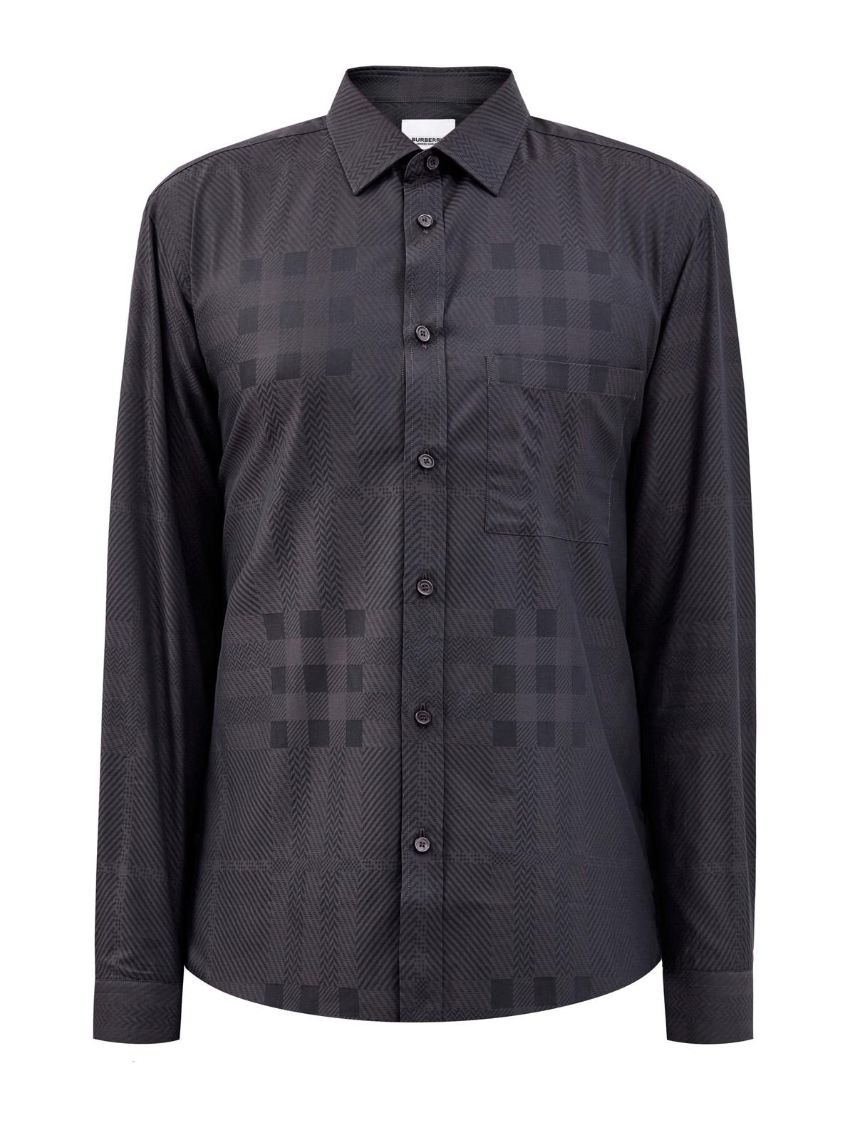 Рубашка из хлопкового жаккарда с принтом в культовую клетку