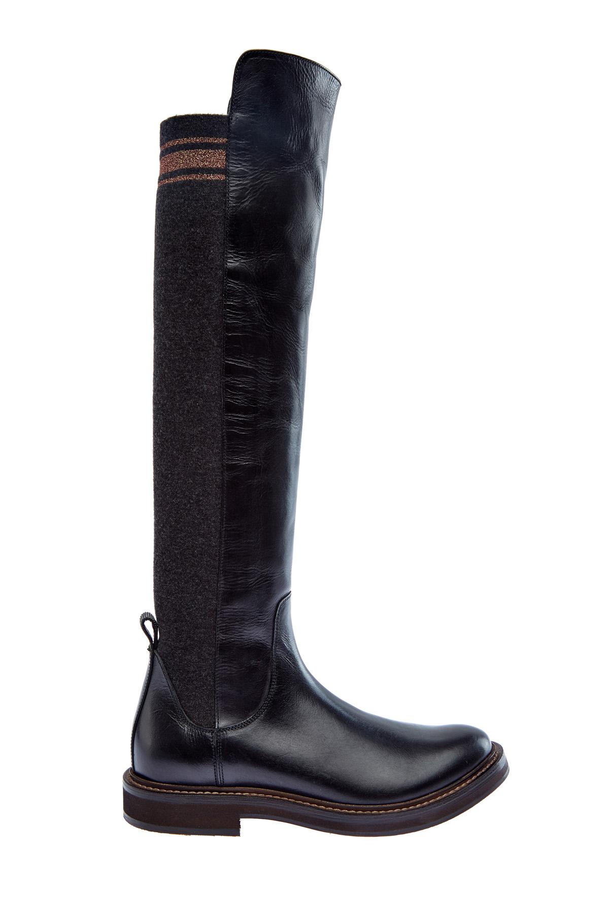 женские сапоги на каблуке brunello cucinelli