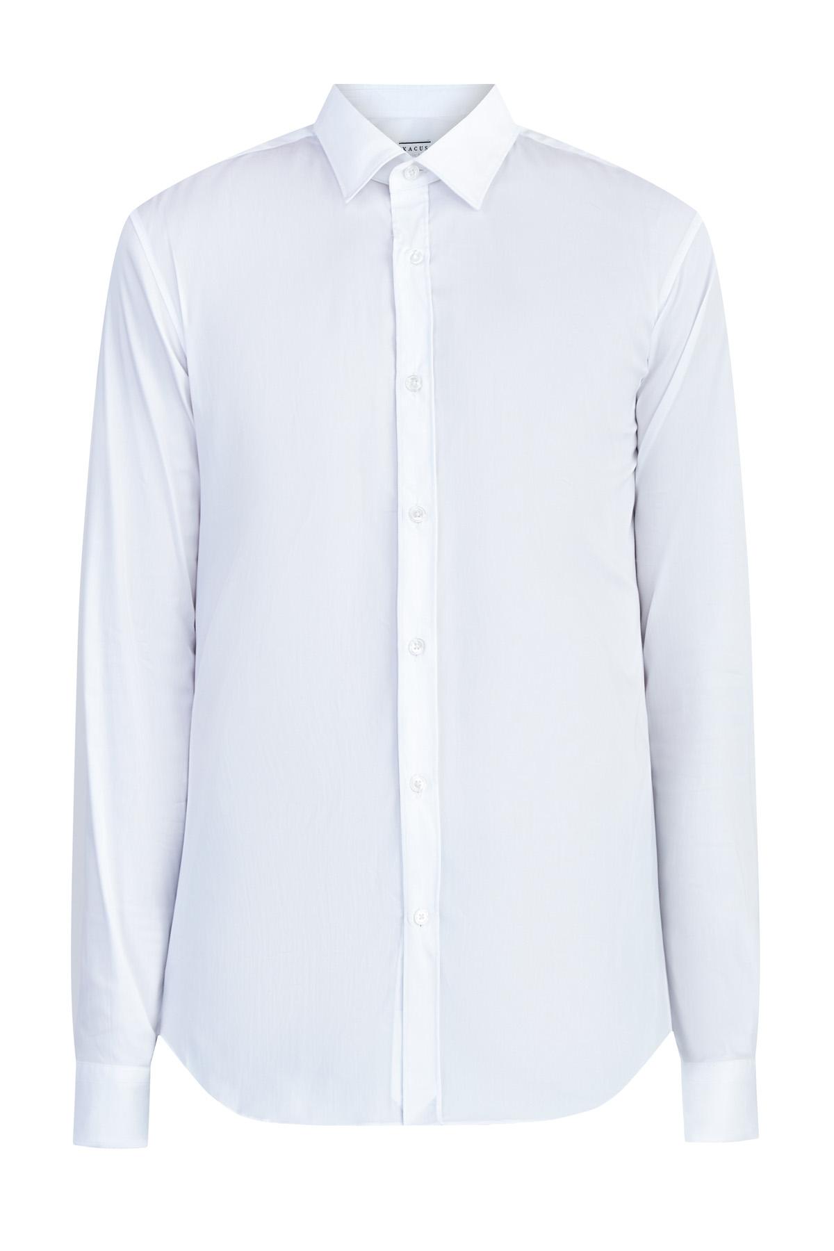 Белая рубашка кроя строго по фигуре Slim Fit из эластичного поплина