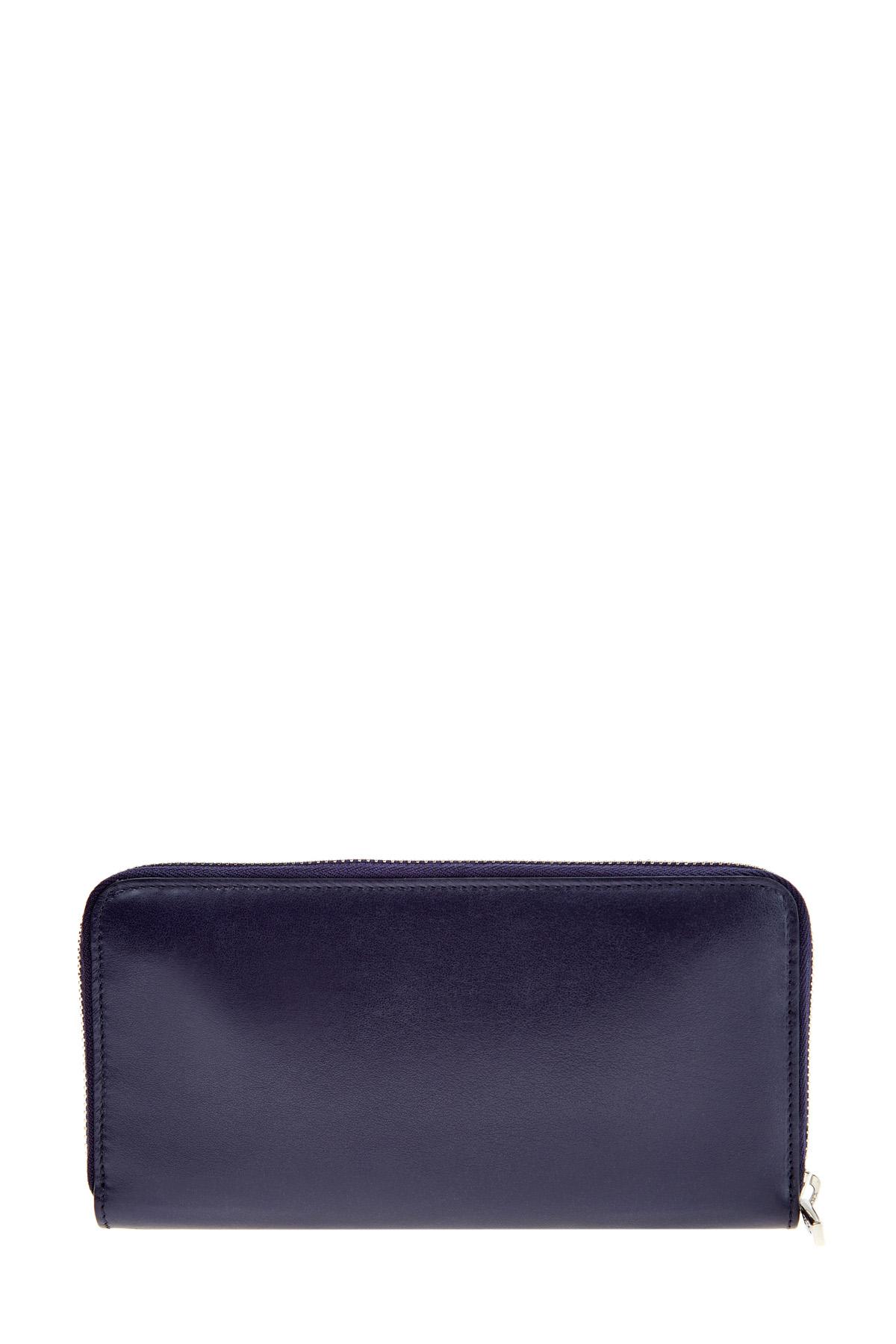 Купить Портмоне из полированной кожи с подкладкой в фирменном стиле, ETRO, Италия, кожа 100%