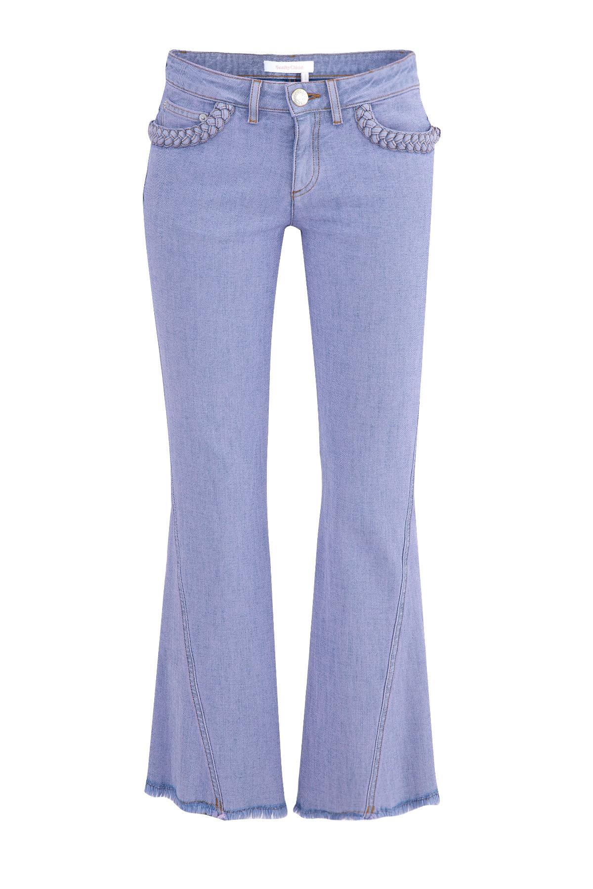 женские джинсы клеш see by chloe