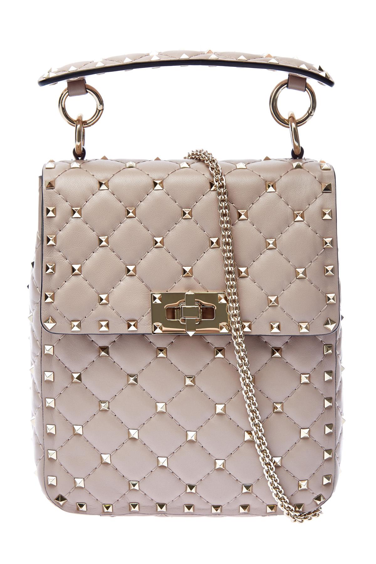 Вертикальная сумка Rockstud Spike из кожи наппа
