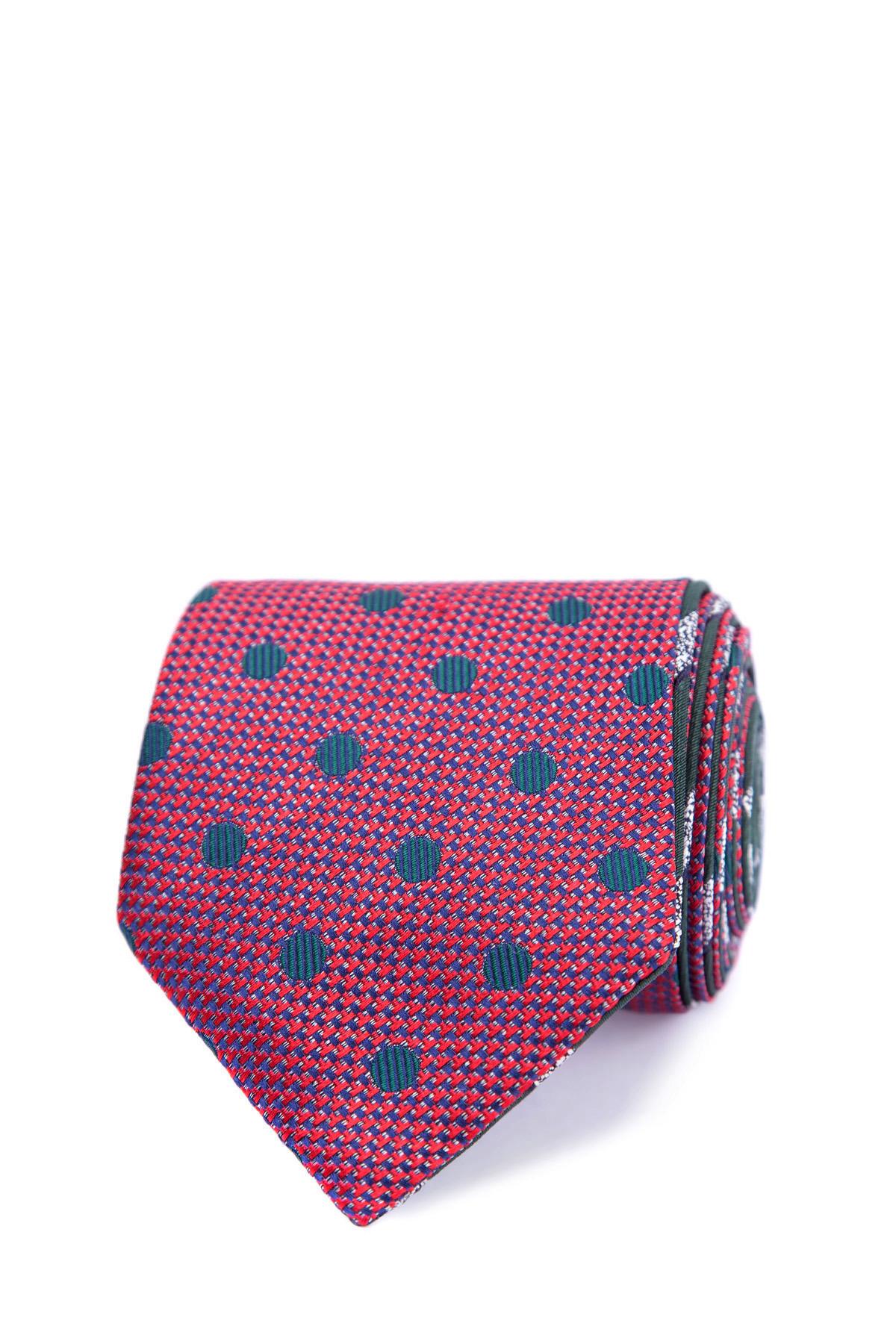 Двусторонний шелковый галстук с жаккардовым принтом